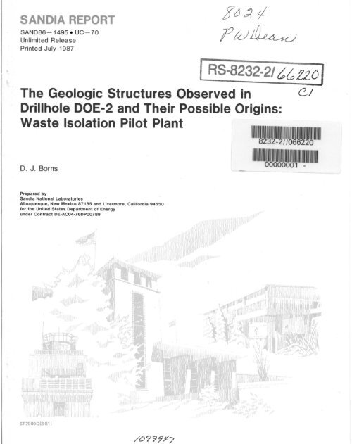 The Geologic Structures Observed in Drillhole DOE‑2 and Their ...