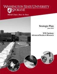 Strategic Plan cover sheet - Washington State University at Spokane