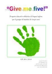 Progetto educativo-didattico di lingua inglese per il gruppo di ...