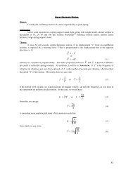 Linear Harmonic Motion - Physics