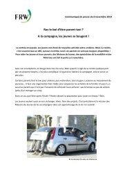 Le communiqué de presse. - Fondation rurale de Wallonie