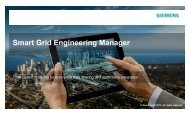 S t G id E i i M Smart Grid Engineering Manager - Siemens