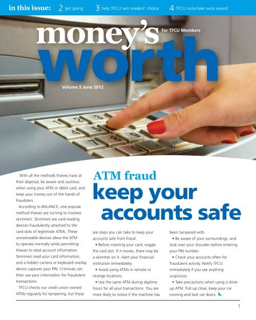 keep your accounts safe - Tinker Federal Credit Union