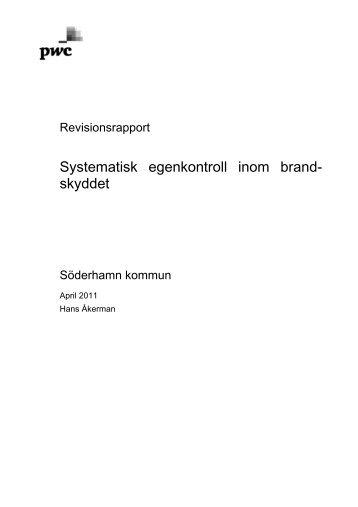 Revisionsrapport granskning brandskydd.pdf - Söderhamns kommun