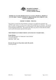 permit to allow minor use of an agvet chemical product ... - Pest Genie