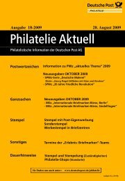 Ausgabe 18-2009 28. August 2009 - Deutsche Post - Philatelie