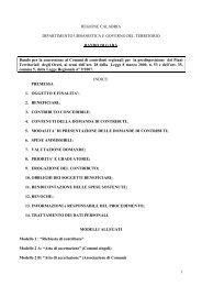 Bando - Regione Calabria - Dipartimento Urbanistica e Governo del ...