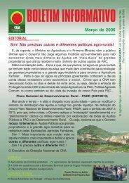Boletim Informativo Março de 2006 - CNA