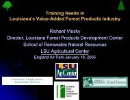 Training Needs in Louisiana's Value-Added Forest Products Industry ...