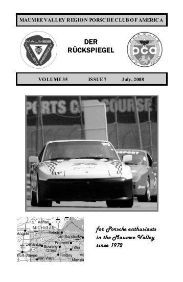 Volume 35 Issue 7, July 2008 - Maumee Valley - Porsche Club of ...