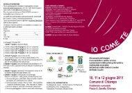 Brochure IO come TE - Chiampo 10-12giugno.pdf - Comunità ...