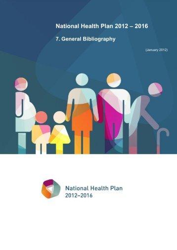 General Bibliography - Plano Nacional de Saúde 2012 – 2016