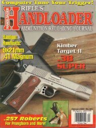 The New England Firearms Handi-Rifle is a remark- able offering in