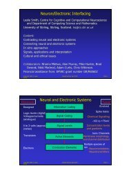 Neuron/Electronic Interfacing - Department of Computing Science ...