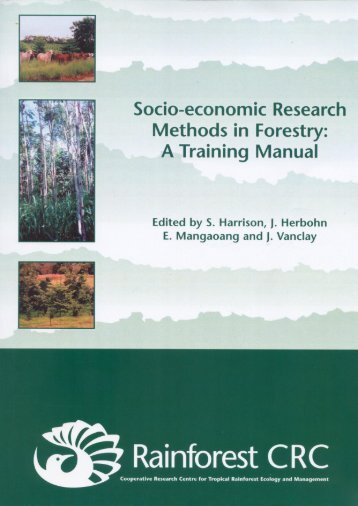 Socio-economic Research Methods in Forestry: A Training Manual