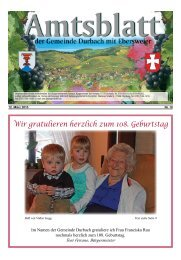 Wir gratulieren herzlich zum 108. Geburtstag - Durbach