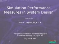 Simulation Performance Measures in System Design - Traffic Signal ...