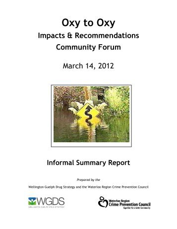 Oxy to Oxy: Impact & Recommendation Community Forum - OHRDP