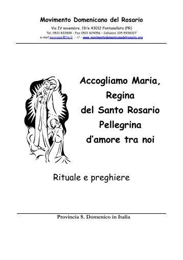 Accogliamo Maria, Regina del Santo Rosario Pellegrina d'amore tra ...