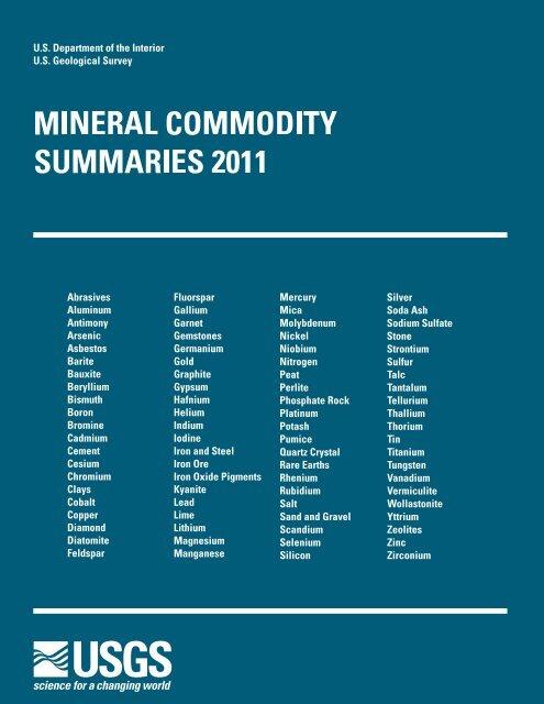 151 Quantum Rare Earth Developments Corp Reports Significant Update To Resource Estimate At The Elk Creek Niobium Deposit Nebraska >> Mineral Commodity Summaries 2011 Environmental And Energy