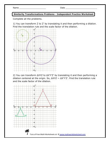 math worksheet : math worksheets on scale factors  educational math activities : Math Dilation Worksheet