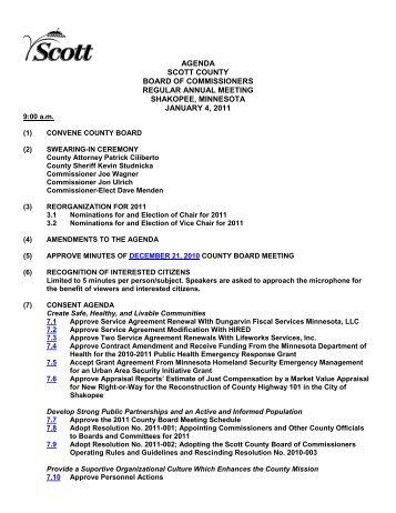 agenda scott county board of commissioners regular annual ...