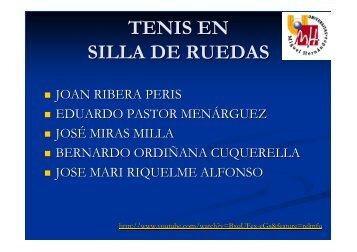 TENIS EN SILLA DE RUEDAS - Miguel Crespo