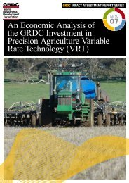 An Economic Analysis of the GRDC Investment in Precision - Grains ...