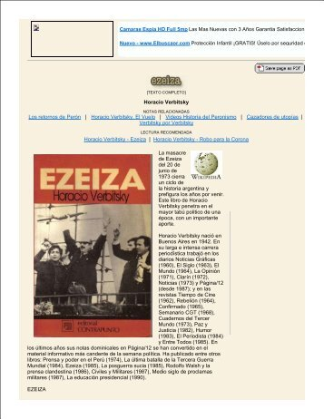 Horacio Verbitsky Los retornos de Perón | Horacio Verbitsky, El ...