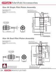 Manifold Accessories - HYDAC USA