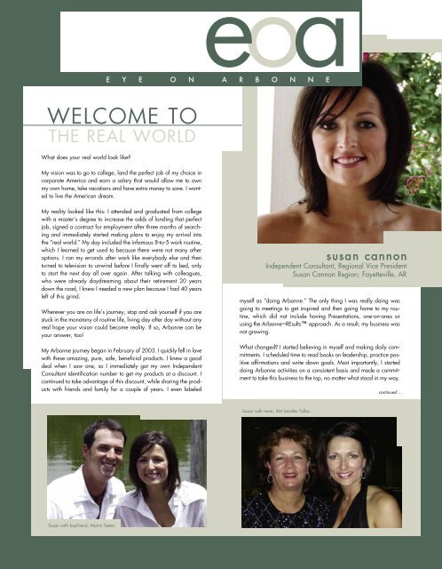 the real world - Arbonne