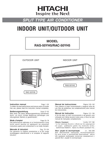 RAS-50YH5/RAC-50YH5 - Hitachi Air Conditioning Products