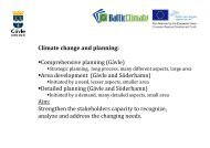 Climate change and planning: Comprehensive planning ... - COMMIN