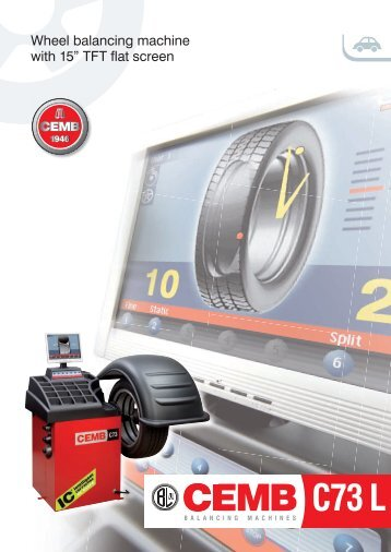 "Wheel balancing machine with 15"" TFT flat screen"