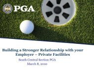 3 Critical Skill Areas - South Central Section PGA