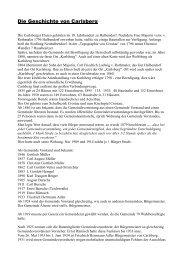 Die Geschichte von Carlsberg - Crostau