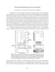 Fabrication of lanthanide targets for nuclear reaction studies D. A. ...