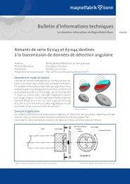 Bulletin d'informations techniques - Magnetfabrik Bonn