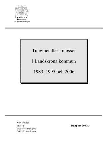 Tungmetaller i mossor i Landskrona kommun 1983, 1995 och 2006