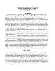 Estimating the Sustainability and Productivity of ... - Cornell University