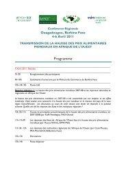 Programme de la conférence - CILSS