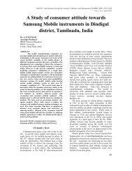 A Study of consumer attitude towards Samsung Mobile instruments ...