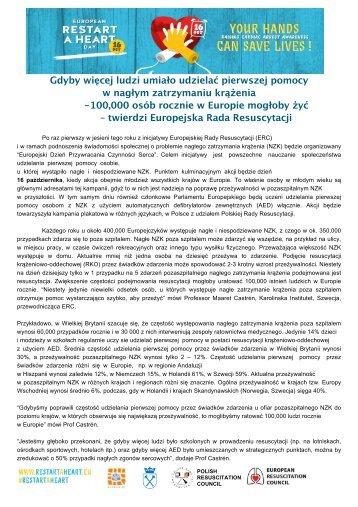 Europejski Dzień Przywracania Czynności Serca - Polska Rada ...