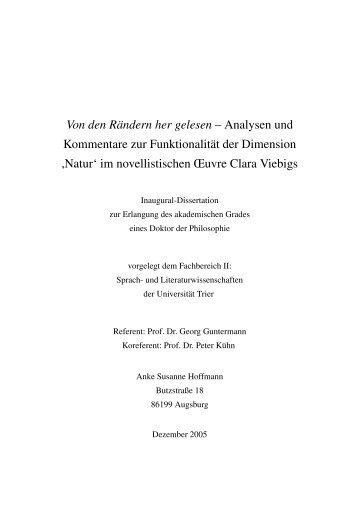 Dokument 1.pdf (869 KB) - Hochschulschriftenserver der Universität ...