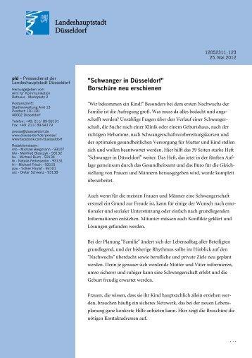 """""""Schwanger in Düsseldorf"""" Borschüre neu erschienen"""