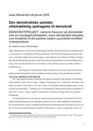 Den demokratiske samtale: utilstrækkelig opdragelse ... - Folkeskolen