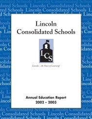 Points of Pride - Lincoln Consolidated Schools