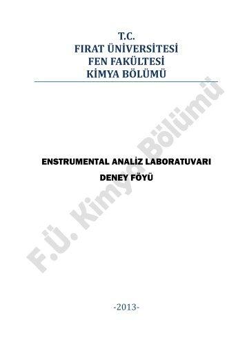Enstrumental Analiz Laboratuvarı - Portal - Fırat Üniversitesi