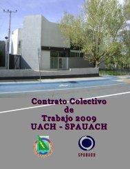 Contrato colectivo de trabajo 2009 UACH - SPAUACH