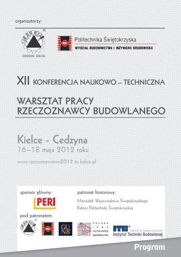 Szczegółowy program konferencji - Organizatorzy - Kielce